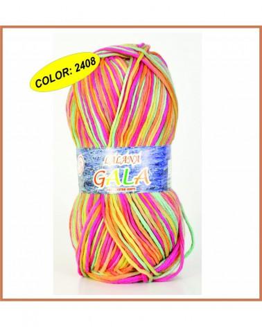 Ovillo 100grs lana GALA color MARRON OSCURO