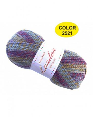 Ovillo Lana London Multicolor 80grs